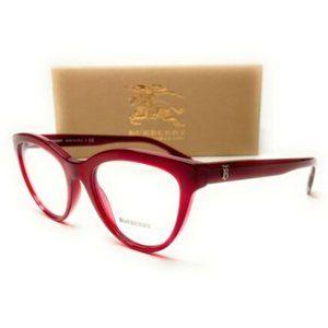 Burberry Women's Red Eyeglasses!